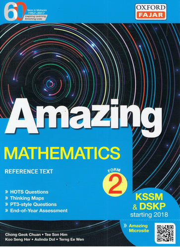 Oxford Fajar-Amazing: Mathematics Form 2-9789834724023-BukuDBP.com