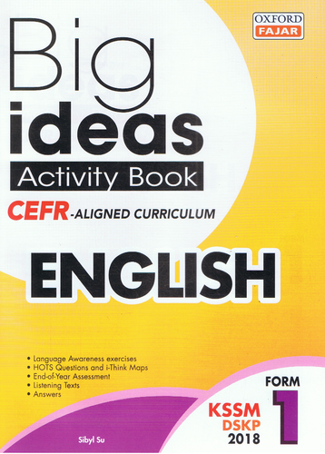 Oxford Fajar-Big Ideas Activity Book: English Form 1-9789834724139-BukuDBP.com
