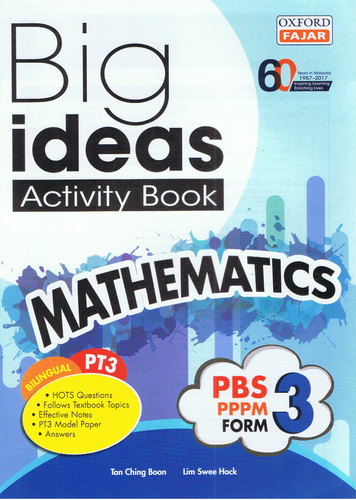 Oxford Fajar-Big Ideas Activity Book: Mathematics Form 3-9789834722883-BukuDBP.com
