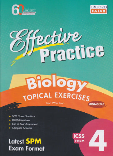 Oxford Fajar-Effective Practice: Biology Topical Exercises Form 4-9789834722647-BukuDBP.com