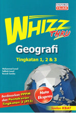 Load image into Gallery viewer, Oxford Fajar-Whizz Thru: Geografi Tingkatan 1,2 & 3-9789834714673-BukuDBP.com