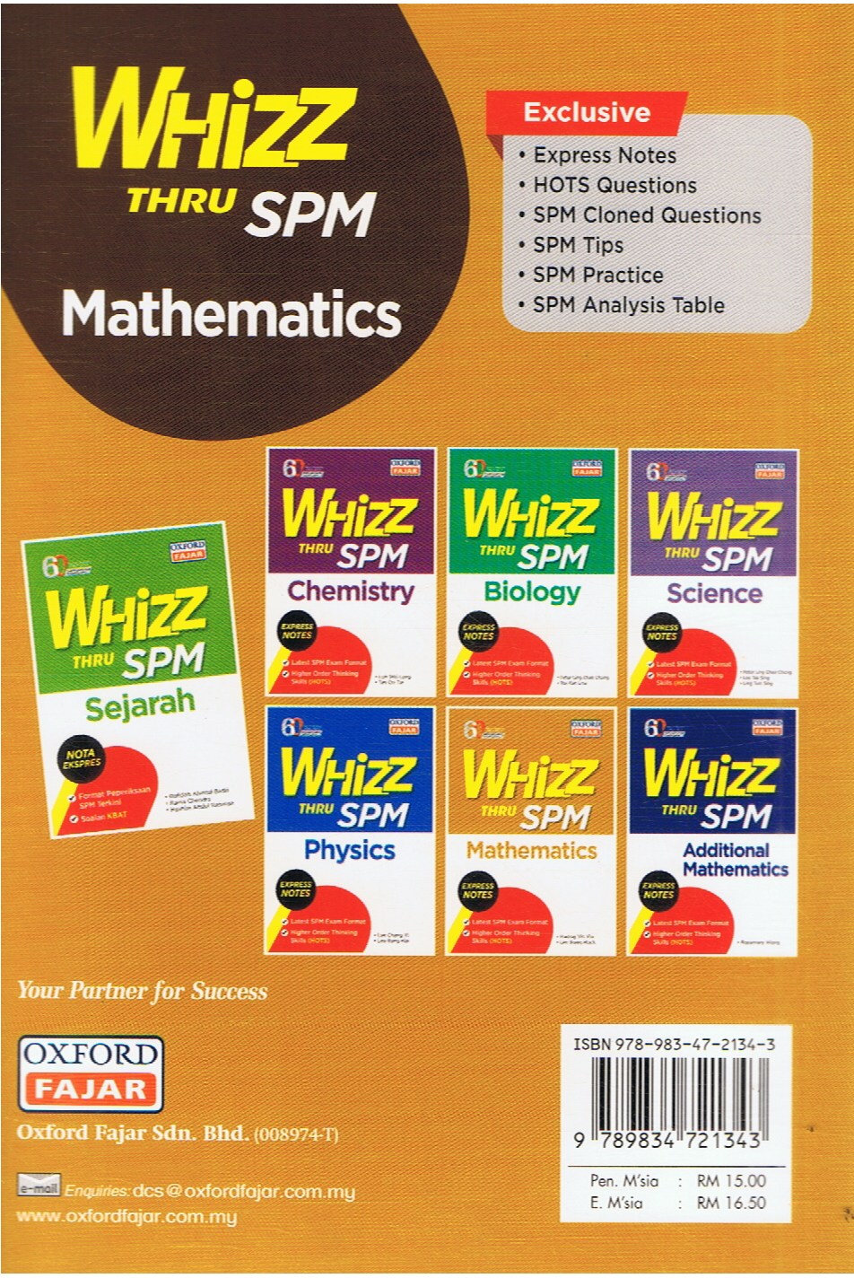 Oxford Fajar-Whizz Thru SPM Mathematics-9789834721343-BukuDBP.com
