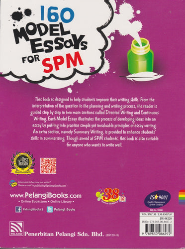 Pelangi-160 Model Essays For SPM-9789830086972-BukuDBP.com