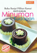 Load image into Gallery viewer, Qaff Publications-Buku Resipi Pilihan Ramai Anti Gagal Minuman Dan Kudapan-9789675490309-BukuDBP.com
