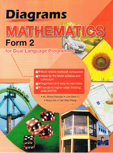 SAP Pendidikan-Diagrams Mathematics Form 2 For Dual Language Programme-9789673216475-BukuDBP.com