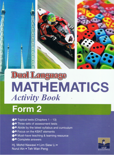 SAP Pendidikan-Dual Language Mathematics Activity Book Form 2-9789673216314-BukuDBP.com
