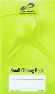 Stationery-Oblong Book-Dot Down Small Oblong Book 400pg-9555042500670-BukuDBP.com
