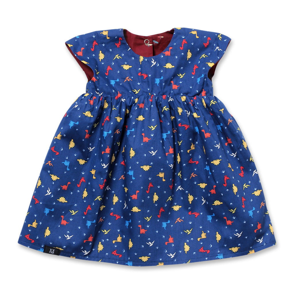 Dinorawr Babydoll Reversible Dress (Navy)