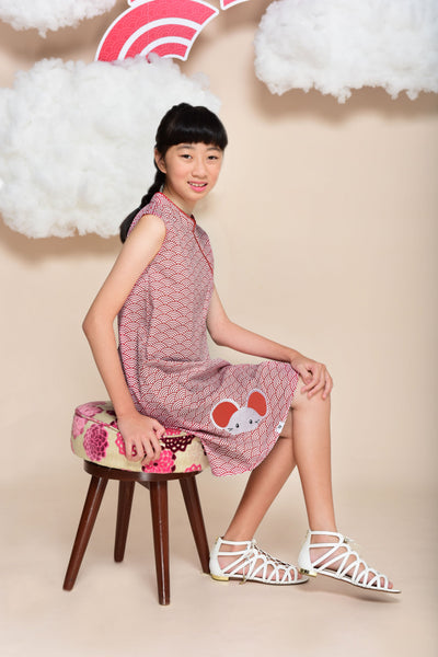 Little Kai Non-Reversible Classic Cheongsam (Scallop)