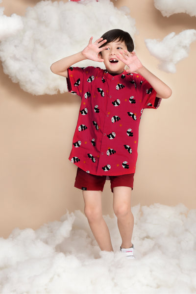 Little Kai Non-Reversible Shirt (Red Panda)