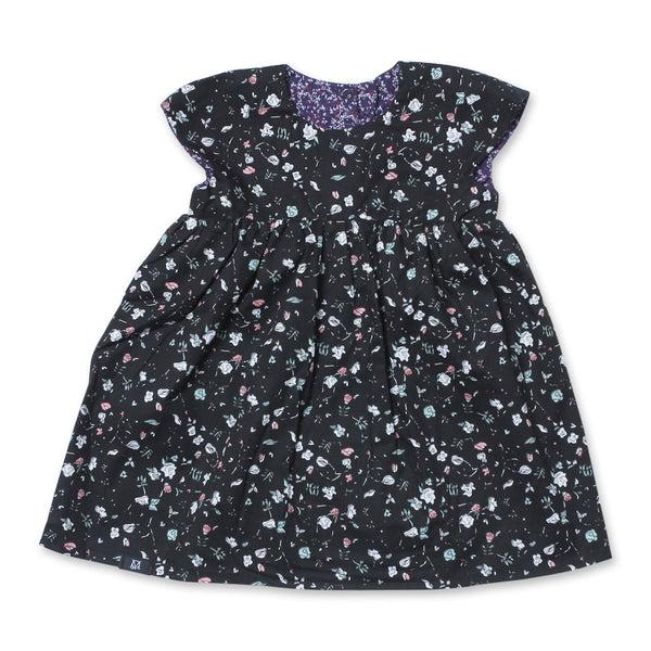 Gardenia Babydoll Reversible Dress (Black)