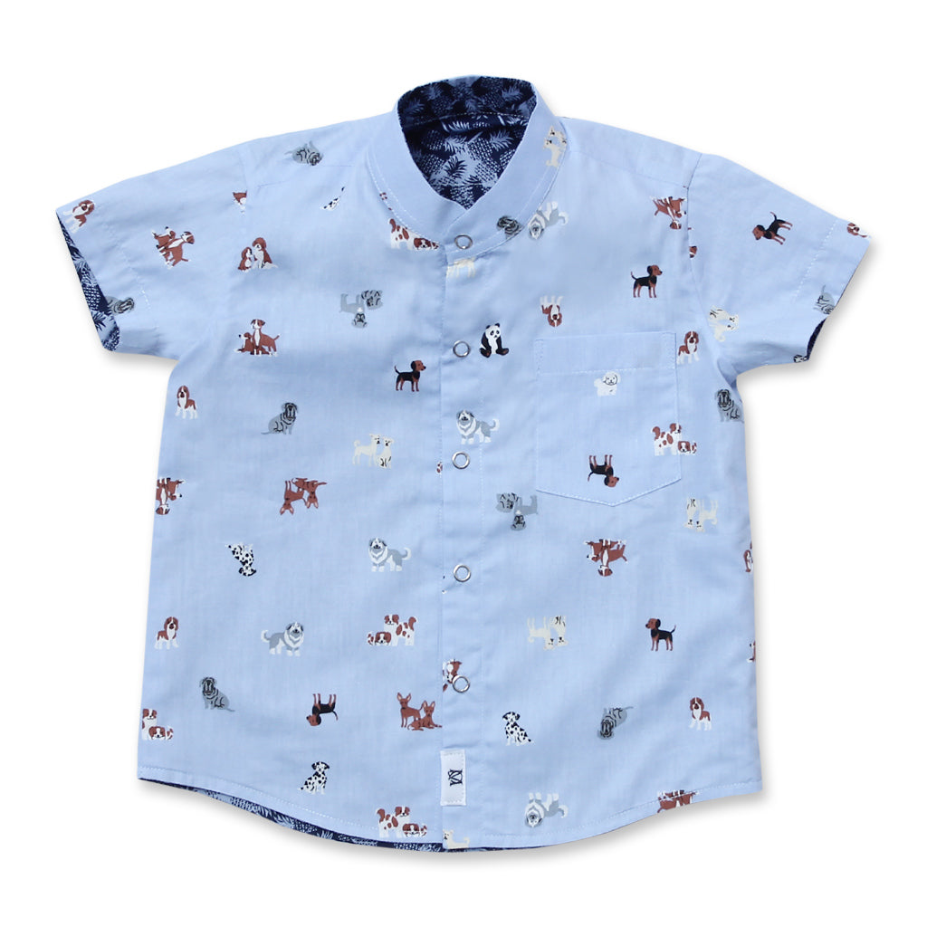Pawfect Reversible Shirt (Blue)