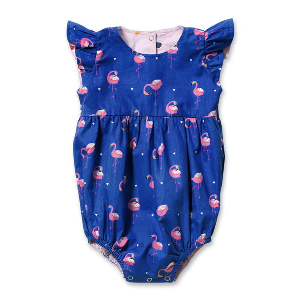 Papillon Baby Girl Reversible Onesie