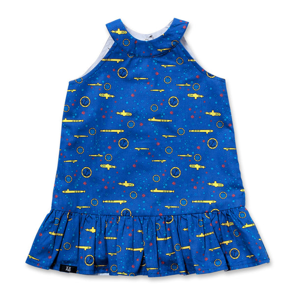 Yellowsub Reversible Dress (Blue)