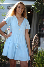 Sea Folly Mini Dress - Baby Blue