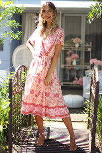 Cuban Rose Midi Dress