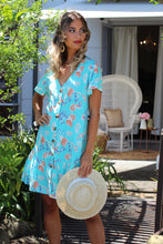 South Coast Mini Dress - Aqua