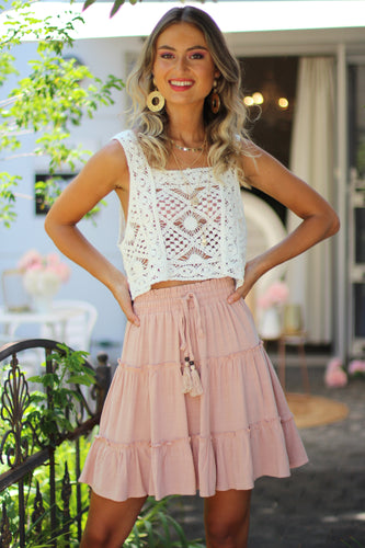 Free World Mini Skirt - Rose