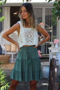 Free World Mini Skirt - Sage