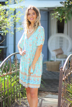 Calypso Mini Dress - Blue