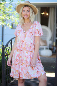 Blushing Rose Mini Dress