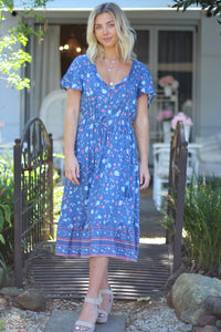 Blueberry Fields Midi Dress