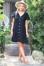 Summer Eve Mini Dress - Black