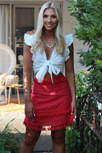 Shake It Mini Skirt - Red