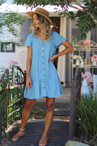 Home Girl Mini Dress - Indigo