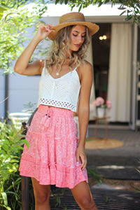 Watermelon Crush Mini Skirt
