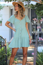 Sandy Girl Mini Dress - Sage