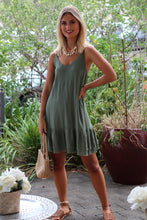Flaked Almond Mini Dress - Khaki