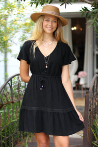 Alabama Mini Dress - Black
