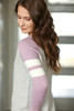 All The Best Knit Top in Lavender and Gray