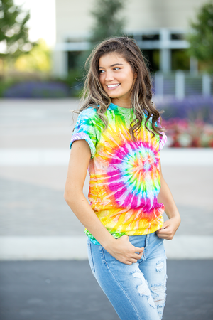 Jupiter Multi Color Tie Dye Tee