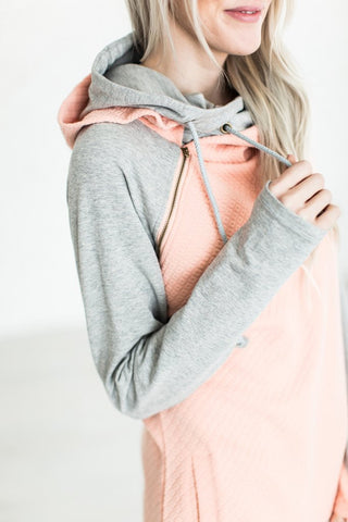 Peachy Keen Double Hooded Sweatshirt