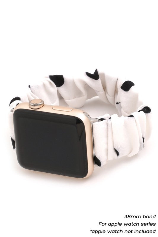 Scrunchie Apple Watch Band in Polka Dot