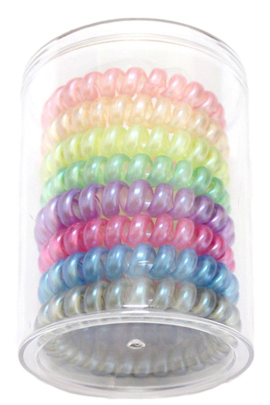 Iridescence Boutique Coil Hair Ties