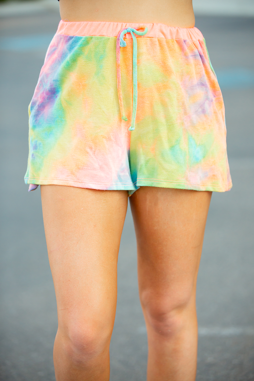 Give It Away Multi Color Tie Dye Lounge Bottoms