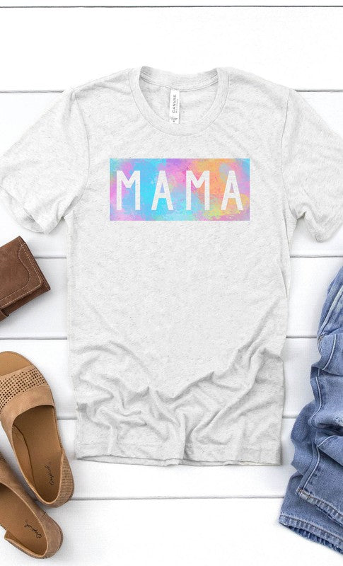 Mama Graphic Tee in Light Heather Gray