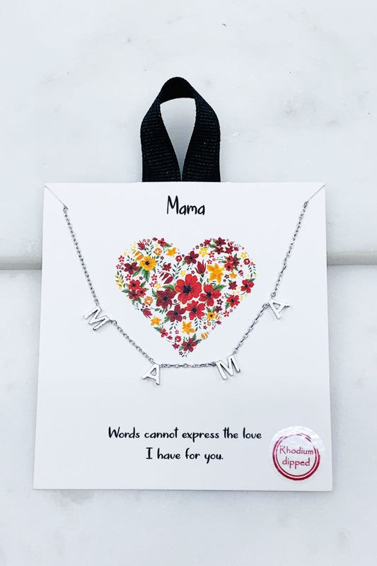 MAMA Petite Necklace in Silver