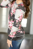 Made To Fly Floral Top Velvet Detail