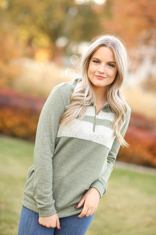 All in a Name Pullover in Sage