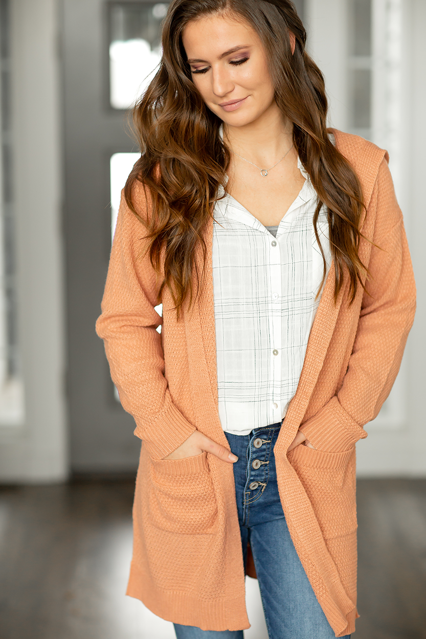 Missing You Knit Cardigan in Apricot