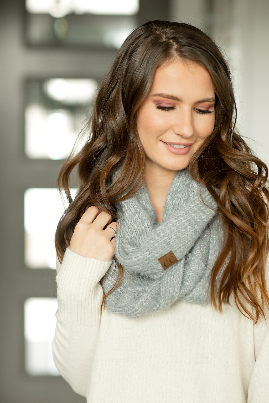 CC Infinity Scarf in Gray