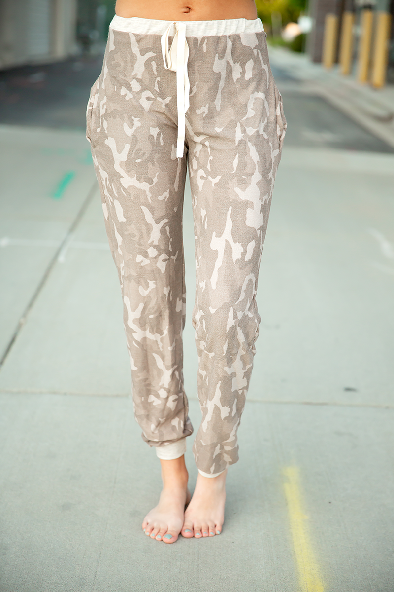 Into the Wild Tan Camo Lounge Pants