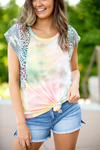 Chasing Dreams Tie Dye Camo and Animal Print Top