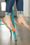 SBICCA Leather Sandals in Rose Gold