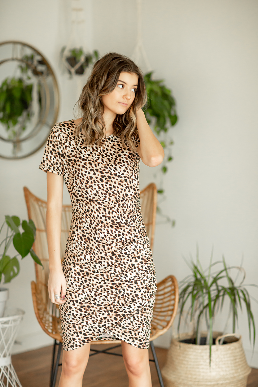 The Goddess In You Animal Print Dress