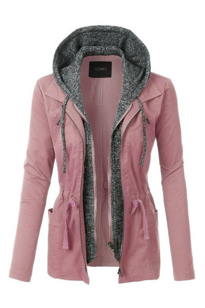 Take Charge Cargo Jacket With Hood in Mauve